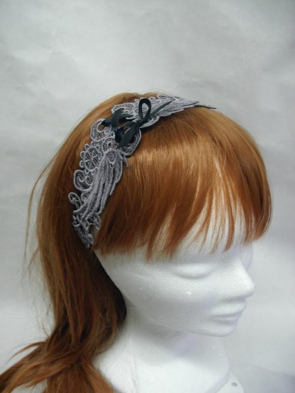 Bandeau Tour de cou headband chocker gris grey by amd a coudre (5)