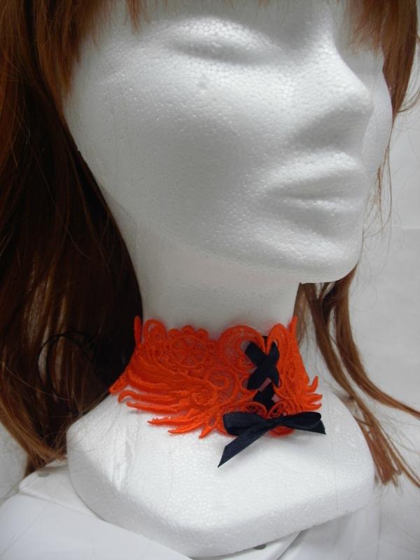 bandeau chocker orange par amd a coudre (1)