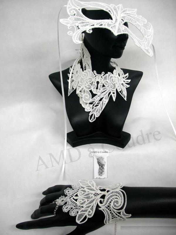 ensemble parure de dentelle bijoux brodés pour mariée wedding par amd a coudre (9)