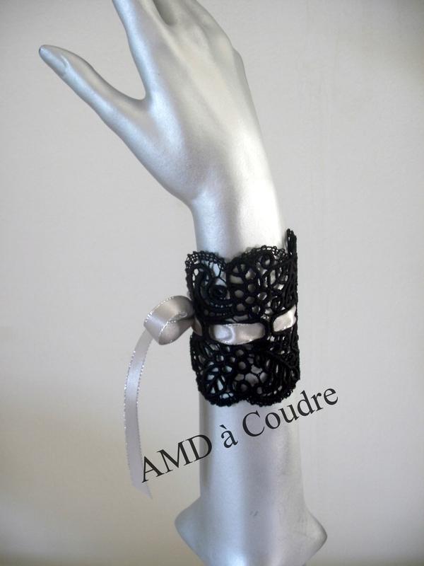 BRACELET MANCHETTE LARGE RUBAN ARGENT PAR AMD A COUDRE (1)