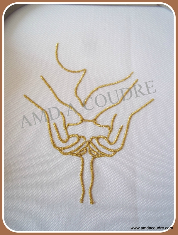 EAU COLOMBE BRODERIE AMD A COUDRE SILVER 1002 (métallique doré)