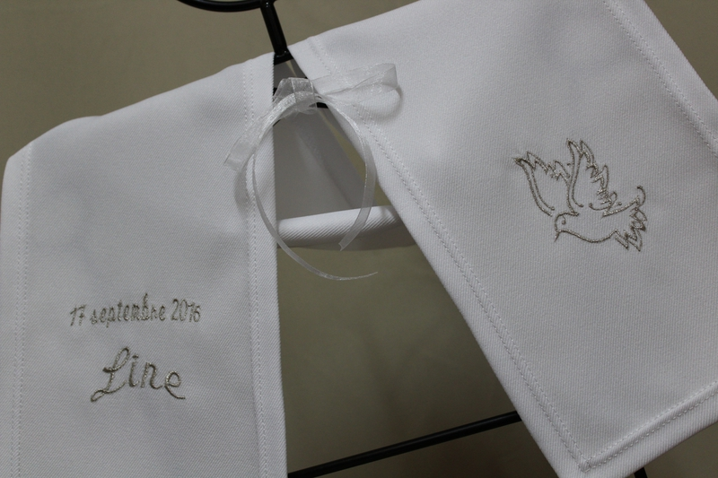 ETOLE BAPTEME PERSONNALISABLE POUR LINE COLOMBE ARGENTEE BRODERIE AMD A COUDRE (13)