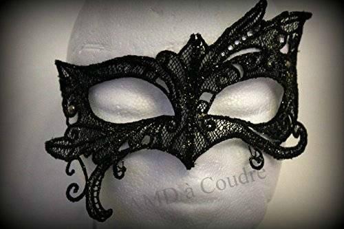 masque de dentelle noire venitien amd a coudre sur amazon
