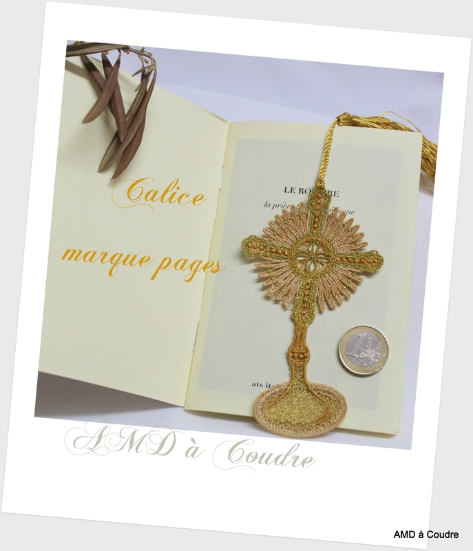 CALICE 1 MARQUE PAGE AMD A COUDRE (30)