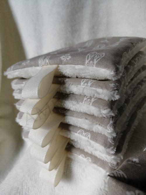 lingettes lavables eponge bambou