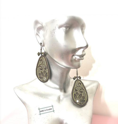 boucles d'oreilles et cristaux swarovski