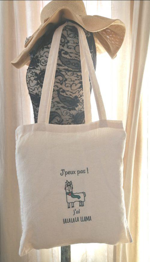 tote bag lama personnalisation broderie machine amd a coudre